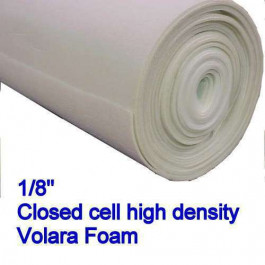 "1/8 Inch Volara close cell foam UNDERPAD FOAM 108"" X 50"" Piece"