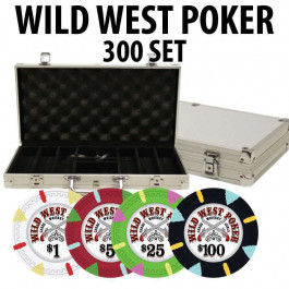 Wild West 300 Poker Chips W/ Aluminum Case