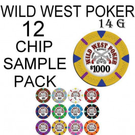 Wild West Poker 14g SAMPLE PACK 12 CHIPS