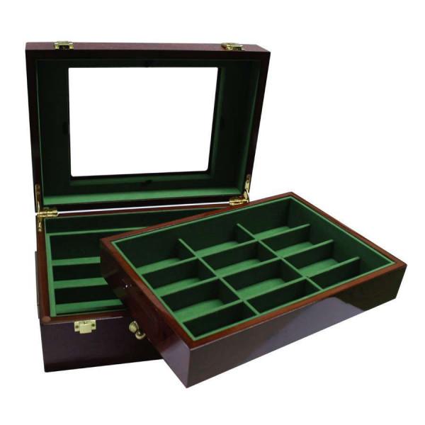 Wooden poker chip case 500