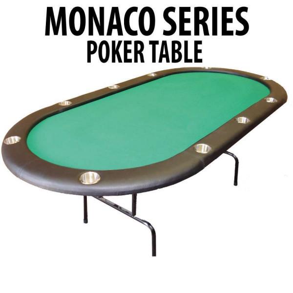Green folding poker table poker tables straight poker for Poker table 6 ou 9