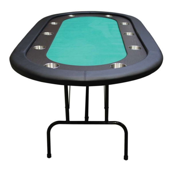 Folding poker table poker tables straight poker supplies for Poker table 6 ou 9
