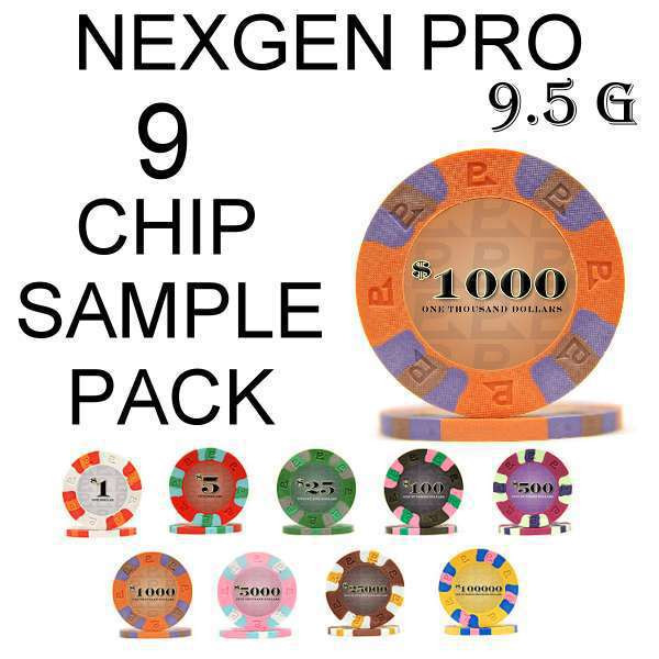 Paulson national chips with carrier trays for Classic house sample pack