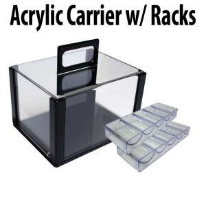 600 capacity :  Casino Poker Chip carrier case with chip trays