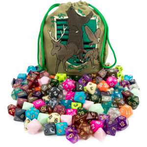 Wiz Dice Polyhedral Dice Bag of Tricks: Collection of 140 Polyhedral Dice
