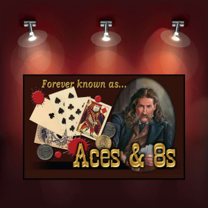 Poker Room art decor Wood Poster Signs : Wild Bill