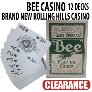 Bee Casino Playing Cards Rolling Hills Casino Brand New Sealed Decks 12 Green