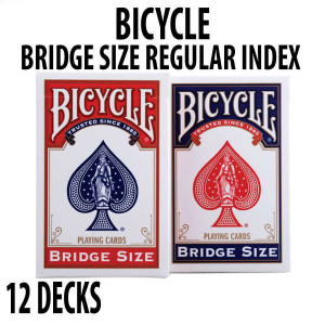 Bicycle BRIDGE SIZE Playing Cards 12 Decks Red & Blue Standard
