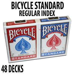 Bicycle Rider Back Plastic Coated Playing Cards 48 Decks Red & Blue Standard