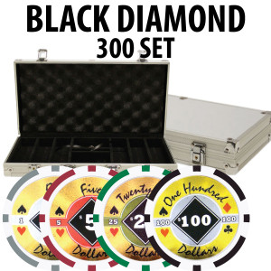 Black Diamond Poker Chips 300 W/ Aluminum Case