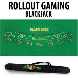 Roll Out Rubber Foam Table Top - BlackJack