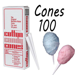 Cotton Candy Floss cones Box of 100