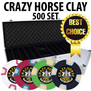 2017 Crazy Horse 500 Poker Chips W/ Aluminum Case