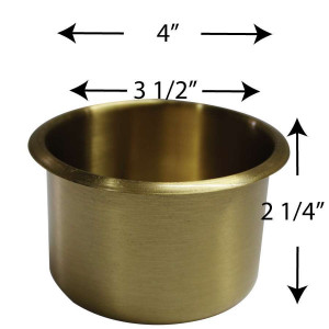 Jumbo size Cup Holder BRASS for Poker or Blackjack Table