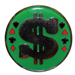 Poker Protector Card Guard Cover : Dollar Sign