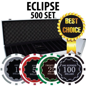 Eclipse Poker Chips 500 W/ Aluminum Case