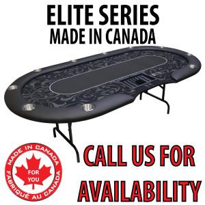 POKER TABLE SPS ELITE - Black Dealer Table With Steel Folding Legs