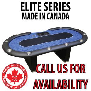 POKER TABLE SPS ELITE - Blue Dealer Table With Box Style Legs