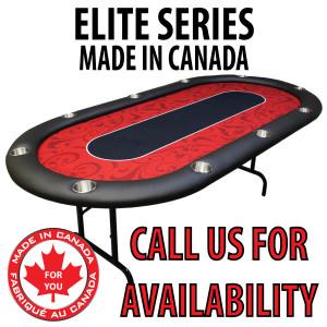 POKER TABLE SPS ELITE - Red Full Bumper Table With Steel Folding Legs