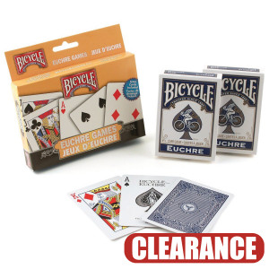 Bicycle Playing Cards Euchre 2 Pack Set CLEARANCE