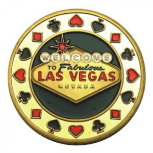 Poker Protector Card Guard Cover in Capsule :  Fabulous Las Vegas