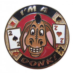 Poker Protector Card Guard Cover in Capsule :  I'm a Donk