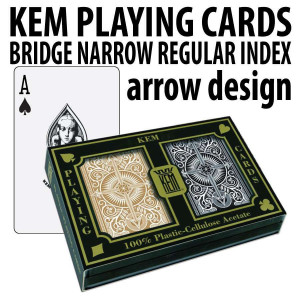 Kem Playing Cards Arrow Bridge Regular Black/Gold