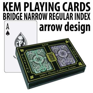 Kem Playing Cards Arrow Bridge Regular Green / Brown