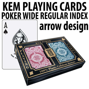 Kem Playing Cards Arrow Poker Wide Regular Red/Blue