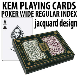 Kem Playing Cards Jacquard Poker Wide Regular