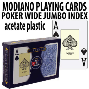 Modiano Playing Cards Platinum Acetate Poker Wide Jumdo Index