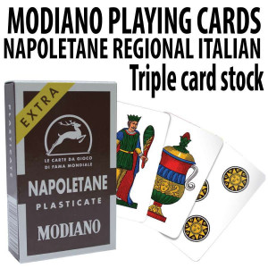 Italian Regional Playing Cards : Modiano Napoletane 97/38