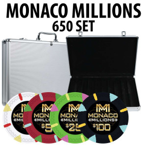 Monaco Millions Poker Chip 650 piece set