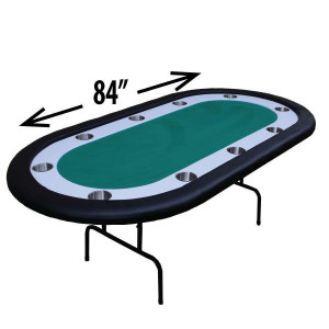 Green Racetrack Poker Table