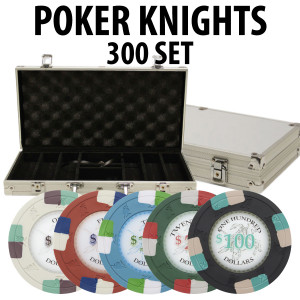 Poker Knights 300 Poker Chip set W/ Aluminum case