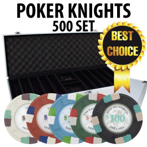 Poker Knights 500 Poker Chip Set W/ Aluminum case