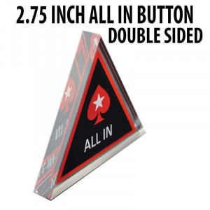 2.75 inch Triangle Poker Stars Acrylic Double Sided All In Button