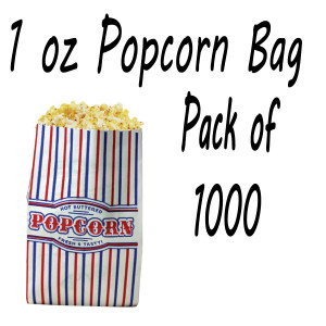 Popcorn Bags Small Size (1oz) Case of 1000 Count