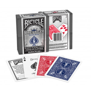 100% Plastic Bicycle Prestige Playing Cards 2 Decks Red & Blue