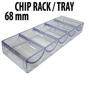 100 capacity : Casino Poker Chip Stackable Acrylic Racks 68MM