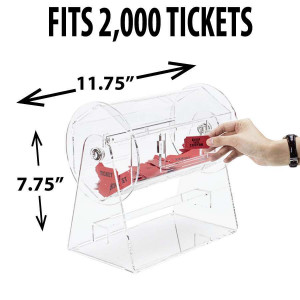 Raffle Drum ACRYLIC SMALL Holds up to 2,000 Tickets