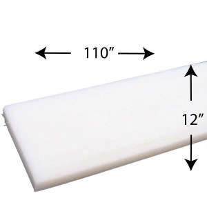 "1 1/2 Inch High Density Rail Foam strips 110"" X 12"""