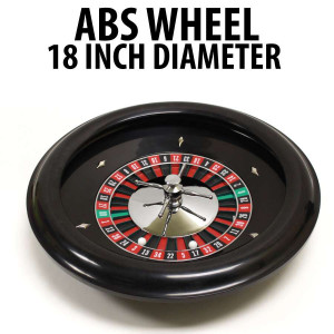 "18"" ABS Roulette Wheel with 2 Roulette Balls"