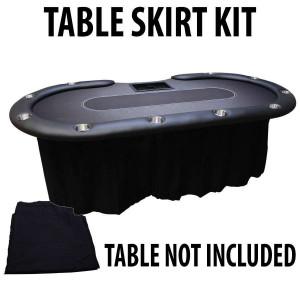 Poker Table or Blackjack table skirts
