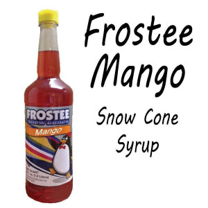 Snow Cone Syrup - MANGO 1 QT Bottle