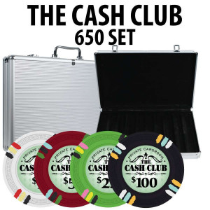 Cash Club 650 Poker Chip Set W/ Aluminum Case