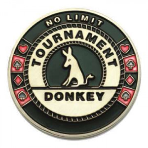 Poker Protector Card Guard Cover in Capsule :  Tournament Donkey
