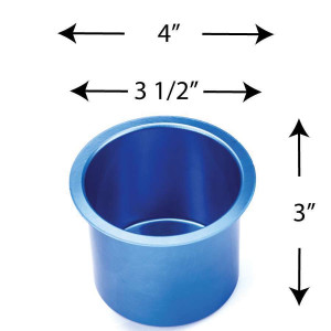 Aluminum Cup Holder Vivid Blue Jumbo for Poker or Blackjack Table