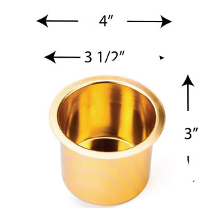 Aluminum Cup Holder Vivid Gold Jumbo for Poker or Blackjack Table