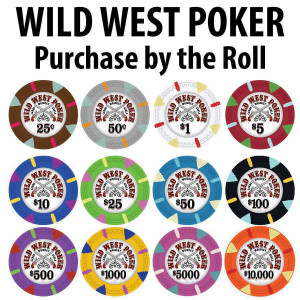 Wild West Poker : 14g Chips : Sold by the roll